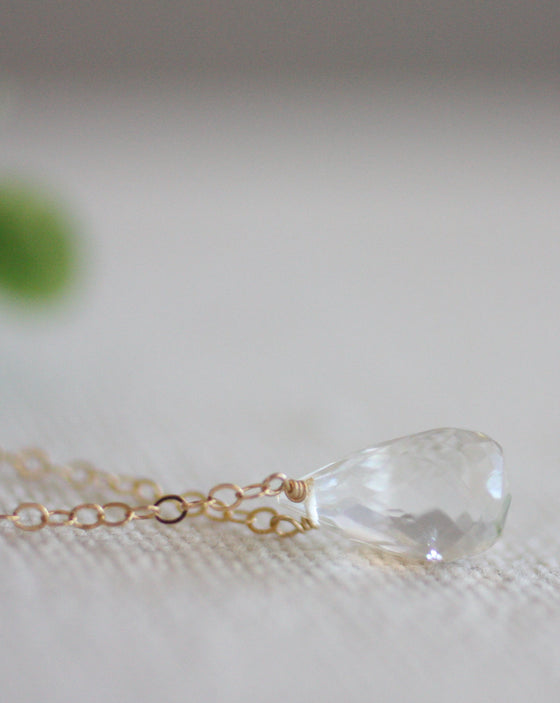 Crystal Tears Handmade Tear Drop Gem Necklace (5529673433248)