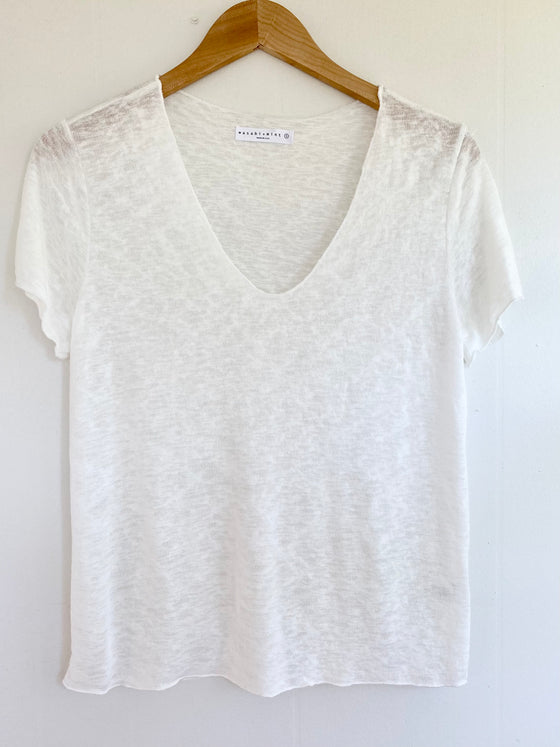 According To You Ivory V-Neck Tee (5809276846240)