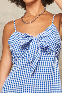 Find Your Own Happy Blue Gingham Dress