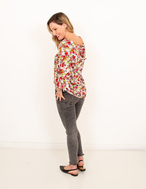 Sunday Candy Bell Sleeve Floral Top (6011128610976)