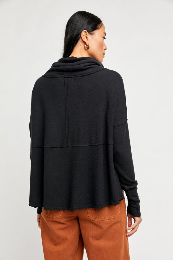 Free People Cozy Time Funnel in Black (5768926855328)