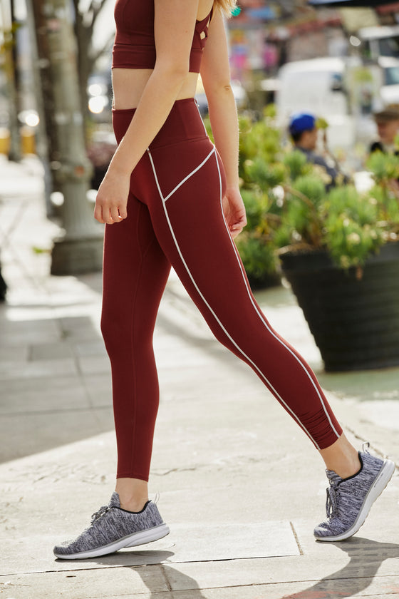 Free People You're A Peach Legging in Spiced Mahogany (5806888845472)