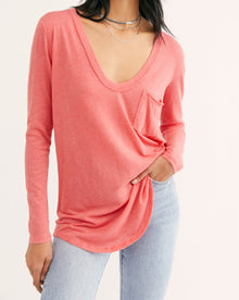 Free People Betty Longsleeve in Sunset (6582333866144)