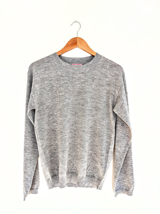 Meant For Me Light Grey Sweater (5738626908320)