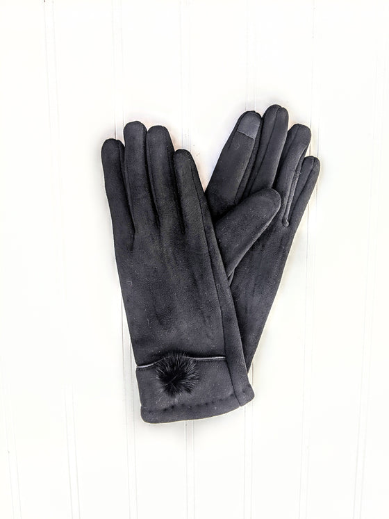 Bow Detail Text Friendly Gloves (5812518420640)