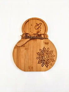 Snowman Bamboo Serving Board (5497155158176)