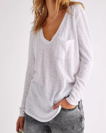 Betty Long Sleeve in White (5996012634272)