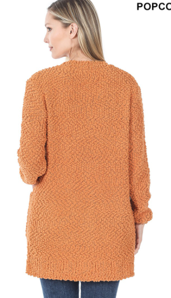 Serene Moments Cardigan in Butter Orange (6013300211872)