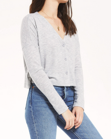 Cher Slub Sweater Top in Heather Grey (6619573682336)