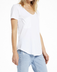 The Pocket Tee in White (6641909760160)
