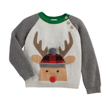 Mud Pie Alpine Reindeer Sweater 12-18 Months (5287964180640)