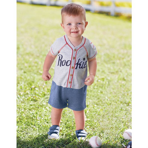 Mud Pie Baseball Raglan One Pc (5298475040928)
