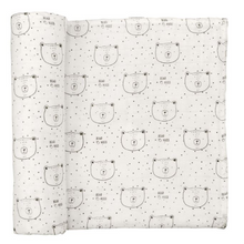 Mud Pie Muslin Bear Hugs Swaddle (5287964377248)