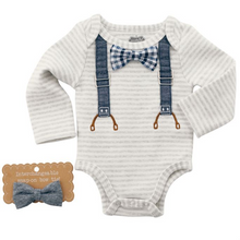 Mud Pie Interchangeable Bowtie Crawler 3-6 Months (5287964606624)