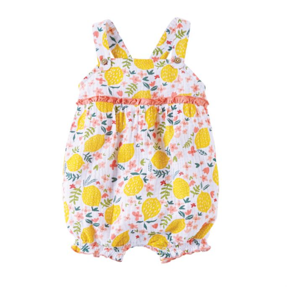 Mud Pie Lemon Floral Bubble 9-12 Months (5287964311712)