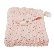 Mud Pie Pink Pointelle Blanket (5287964541088)