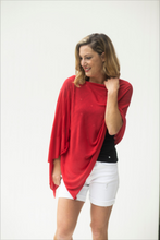 Load image into Gallery viewer, Lost in Love Red Poncho