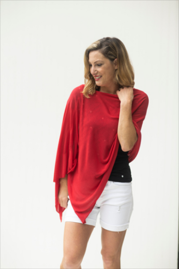 Lost in Love Red Poncho