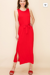 Radiant in Red Maxi Dress