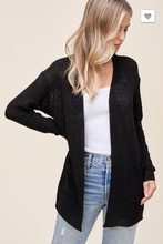 Load image into Gallery viewer, Believe in Love Black Cardigan