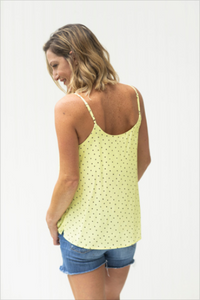 Here Comes The Sun Polka Dotted Tank