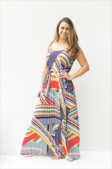 Abstract Work of Art Maxi Dress