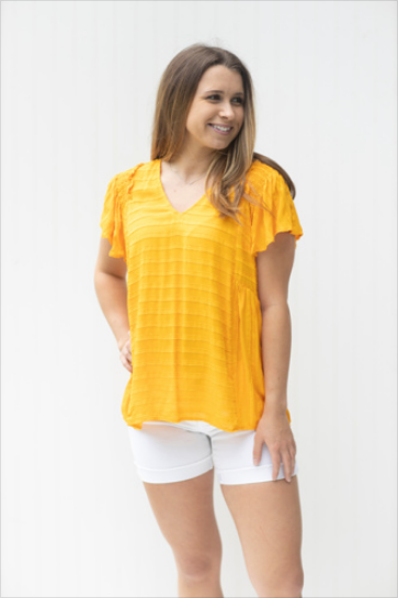 Heart of Gold Short Sleeve Top