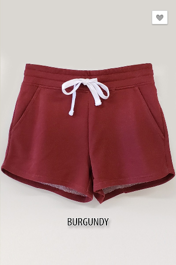 Always Ready Burgundy Athleisure Shorts