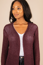 Load image into Gallery viewer, GANZ Paisley Park Maroon Cardigan (5497313656992)