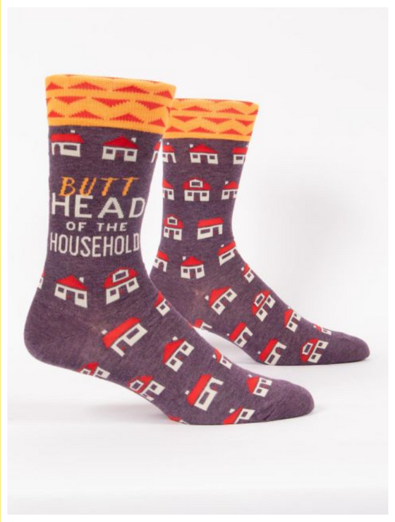 Butt Head of the Household LOL Men's Socks (5529431998624)