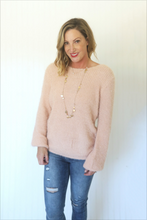 Load image into Gallery viewer, Lean On Me Blush Pink Open Back Sweater (5558112387232)