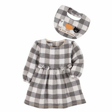 Mud Pie Gingham Dress & Bib Set (5742561656992)