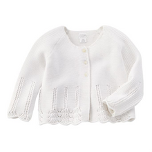 Mud Pie Ivory Eyelet Cardigan (5742528856224)