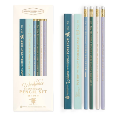 Office Shenanigans 6pc Set of Pencils (5814827384992)