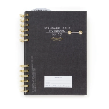 Black Standard Issue Hardcover Twin Wire Undated Planner (5814900981920)