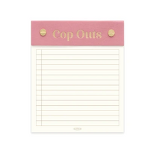 Cop Outs Dusty Pink Post Bound Notepad (5847566188704)