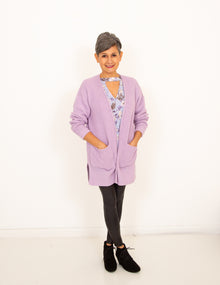 Cozy Cottage Cardigan in Dusty Lavender (6013300310176)