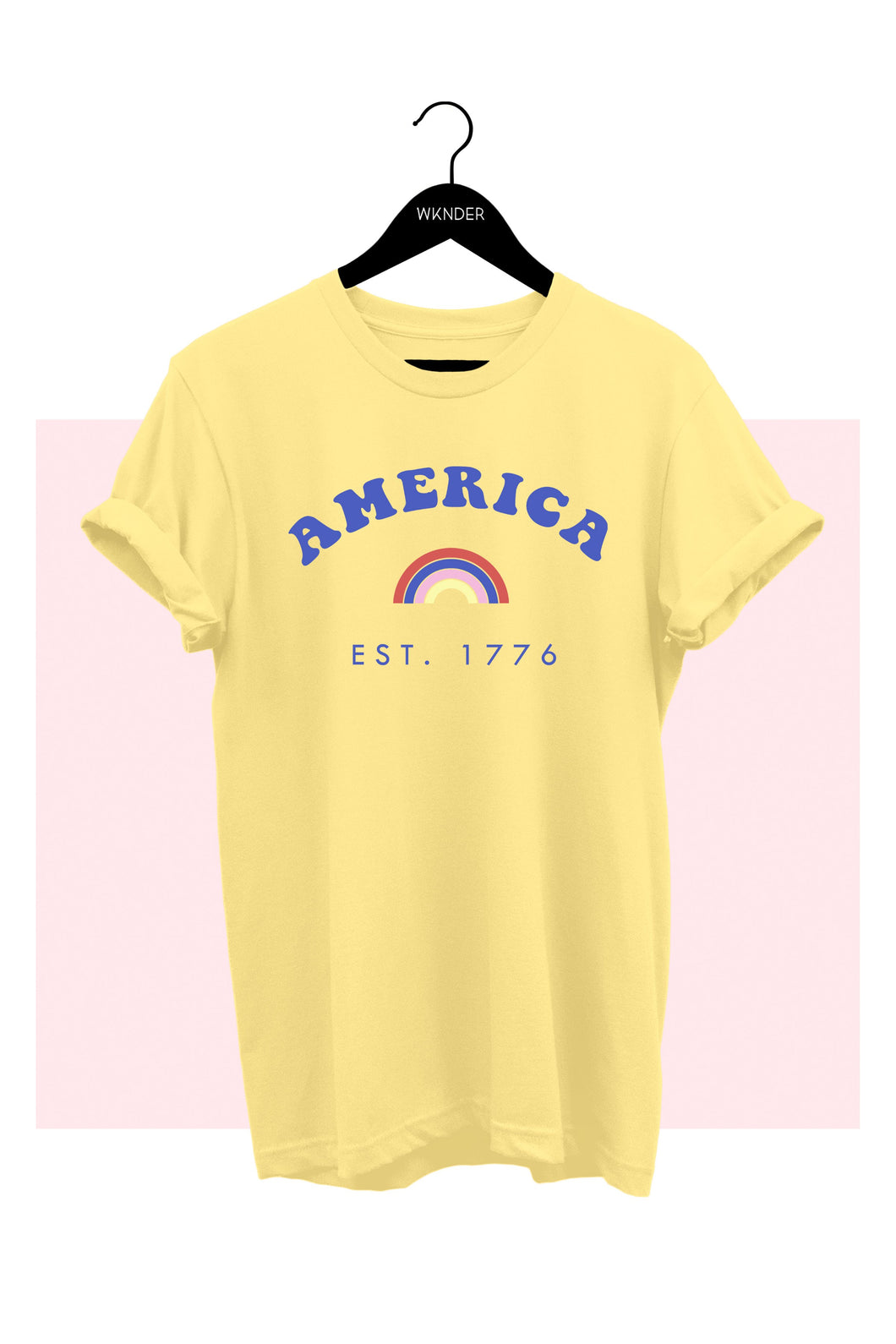 America Est. 1776 Yellow Graphic Tee