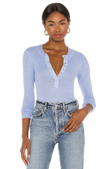 One of the Girls Cerulan Henley Top (5624751554720)