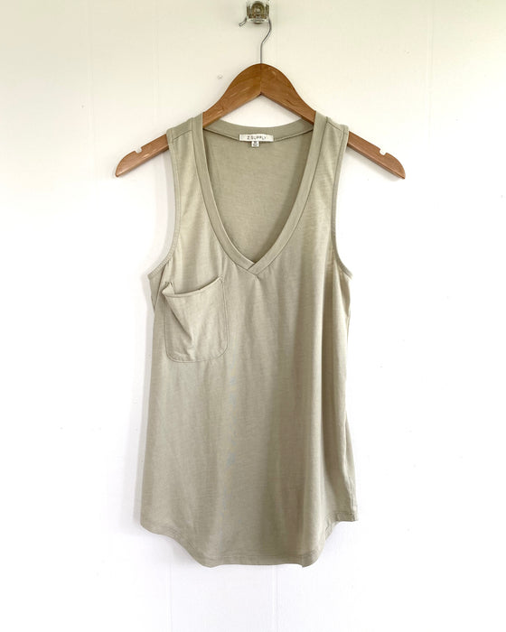 The Pocket Racer Tank in Green Tea (6641910022304)