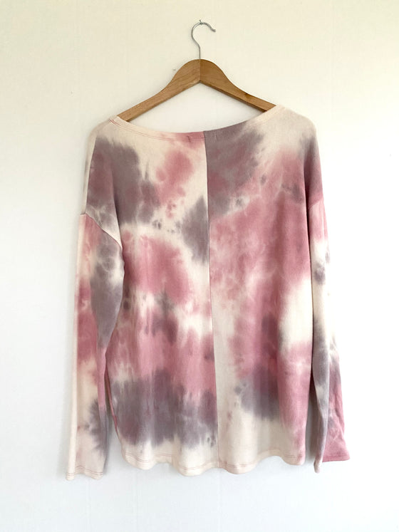 Tie-Dye At SunSet Long Sleeve Top (5822797545632)