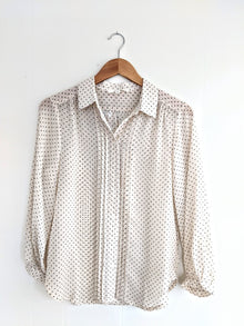 Creatively Classic Ivory Polka Dotted Top (5809273766048)