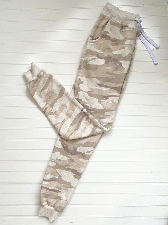 See the Best In Me Beige Camo Joggers (5831348388000)