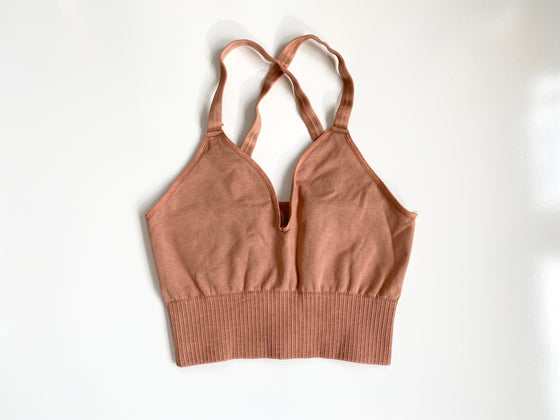 Free People Good Karma Crop Top in Desert Dune (6070661808288)