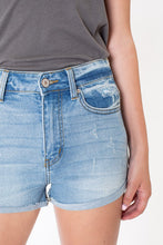 Load image into Gallery viewer, KanCan Let Loose a Little Light Wash Denim Shorts (5342362435744)