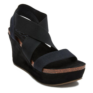 Matisse Black Strappy Wedges