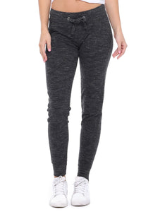 Cuddle Queen Marled Black Joggers