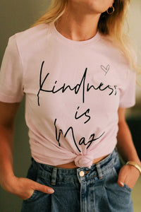Kindness Is Magic Baby Pink Graphic Tee