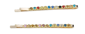 Rainbow Gem Bobby Pin