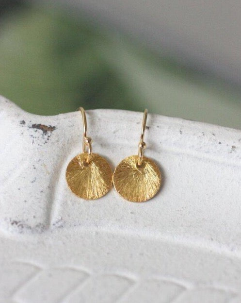 Simply You  Medium Dangle Disk Earring (4879631482924)